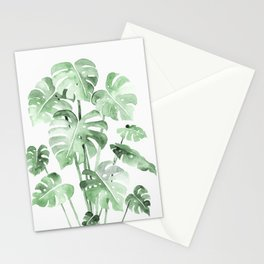 Delicate Monstera Green #society6 Stationery Cards