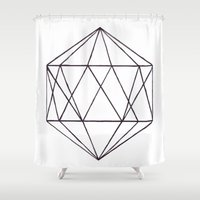 prism Shower Curtains featuring Prism by Bridget Davidson
