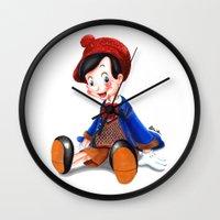 gucci Wall Clocks featuring Pinocchio x Gucci by Olivia Au