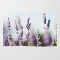 lavender Area & Throw Rugs featuring Lavender by Julia Dávila-Lampe