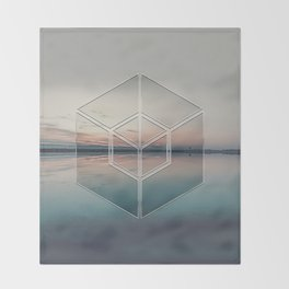 Tranquil Landscape Geometry Throw Blanket
