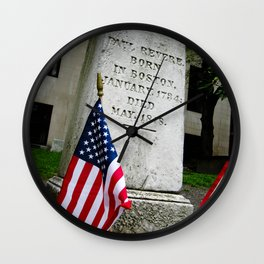 Paul Revere's Memorial Wall Clock