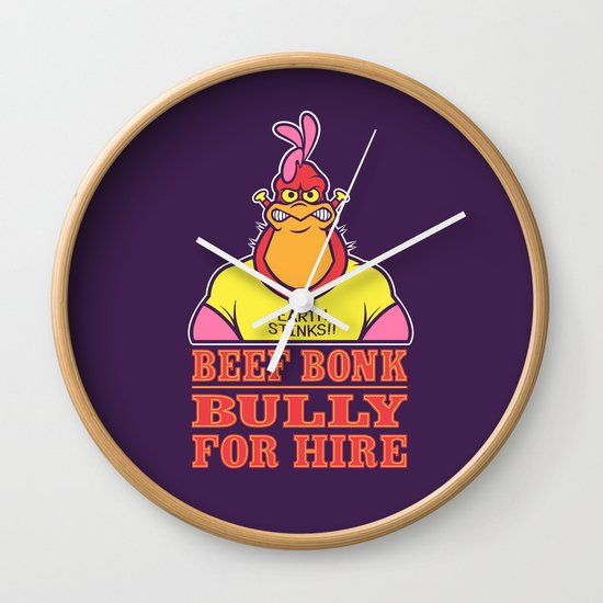 Bully For Hire Wall Clock