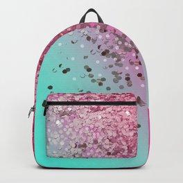 Pink & Light Blue Glitter Gradient Backpack