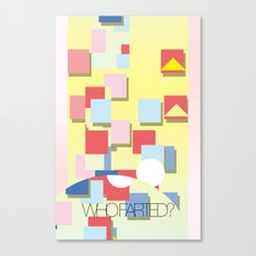 WHOFARTED? Canvas Print