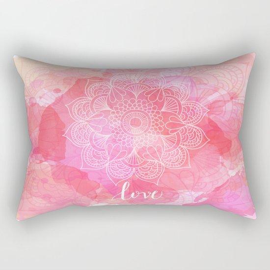 Love Mandala Rectangular Pillow