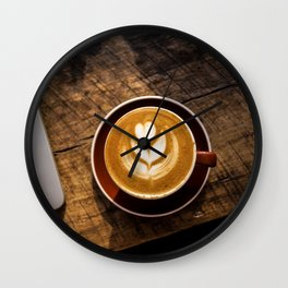 That Perfect Cup of Cappuccino Coffee Wall Clock