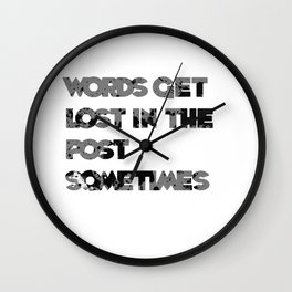 words. Wall Clock