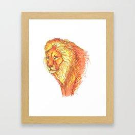 Bright Lion Framed Art Print