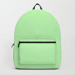 Solid Light Jade Green Color Backpack