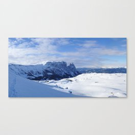 Mountains in South Tyrol Italy Schlern and Alpe di Siusi Canvas Print
