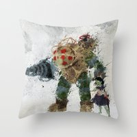 bubbles Throw Pillows featuring Bubbles by Melissa Smith