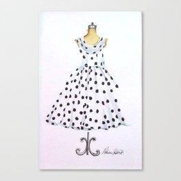 Polkadot Dress Figure Canvas Print