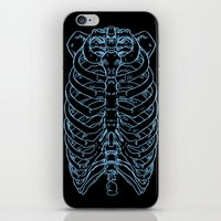 skeleton iPhone & iPod Skins featuring Skeleton by Robbie Drew Dixon