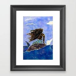 Lady of the Atlantic Crossing Framed Art Print