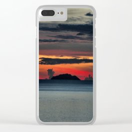 Dressed Sky With Calm Ocean Clear iPhone Case