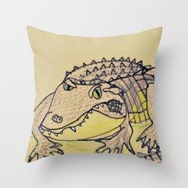 Grumpy Gator Throw Pillow