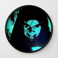 scary Wall Clocks featuring Scary Man by Jussi Lovewell