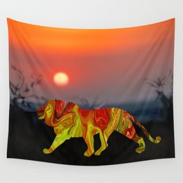 Marble Animals - Lion Wall Tapestry