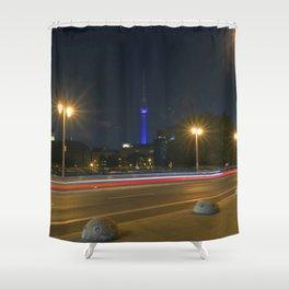Nocturnal Landscape of Berlin Shower Curtain