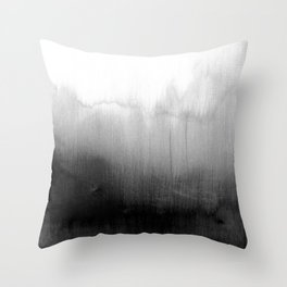 Modern Black and White Watercolor Gradient Deko-Kissen