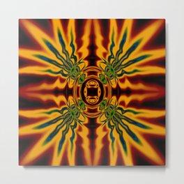 Fire Spirit Abstract Metal Print