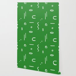 Peppy (moss green) Wallpaper