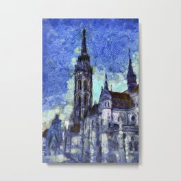 The Church Vincent Van Gogh Metal Print