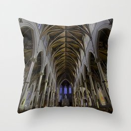 CATHEDRAL OF THE HOLY CROSS, BOSTON MA Throw Pillow