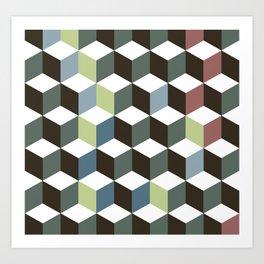 cubes pattern Art Print