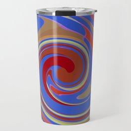 Twirling Blue Travel Mug