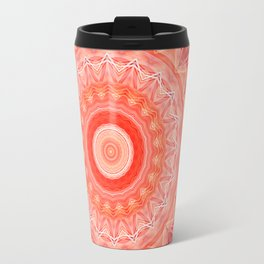 Mandala soft orange 3 Travel Mug