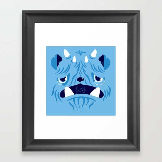 The Bluest Monster Ever :(( Framed Art Print