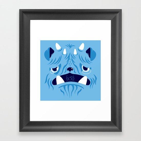 The Bluest Monster Ever :(( Framed Art Print
