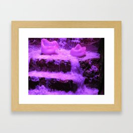 Burnin' Purple Framed Art Print