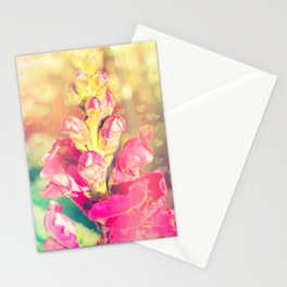 Lupinus-Pink Yellow Blue-Bokeh Hearts Stationery Cards