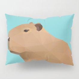Capybara Polygon Art Pillow Sham