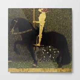 Gustav Klimt - Golden Rider Metal Print