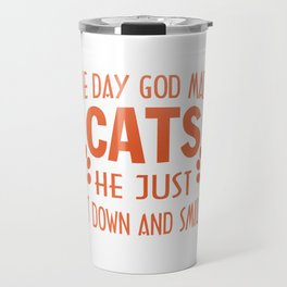 GOD MADE CATS Travel Mug