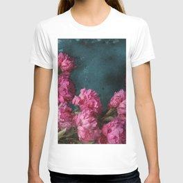 Peony Romance Teal T-shirt