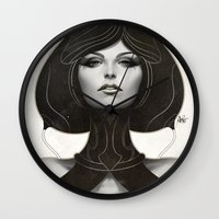 artgerm Wall Clocks featuring Pepper Spade by Artgerm™