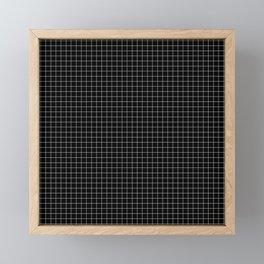 Just checkered pattern black and white 2 Framed Mini Art Print