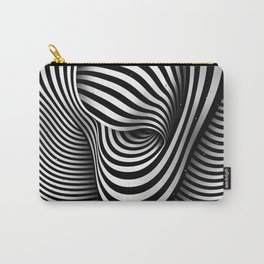 The Ear (black-white) Carry-All Pouch