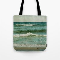 emerald Tote Bags featuring emerald by Iris Lehnhardt