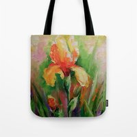 iris Tote Bags featuring Iris by OLHADARCHUK