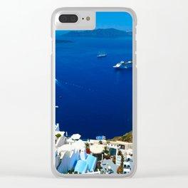 Santorini Caldera Clear iPhone Case