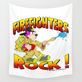 FIREFIGHTERS 65 HALFTONES Wall Tapestry