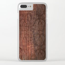 409 Aged Leather Clear iPhone Case