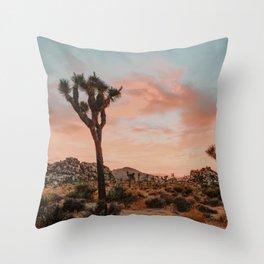 Joshua Tree IX / California Desert Throw Pillow