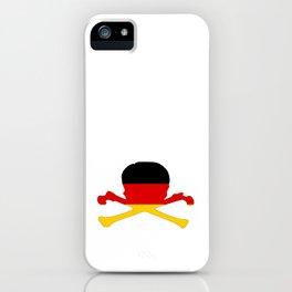 German Flag - Skull iPhone Case